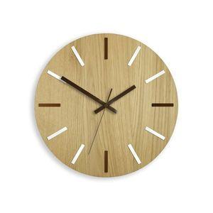 Mazur Nástěnné hodiny Wood Solo hnědé obraz