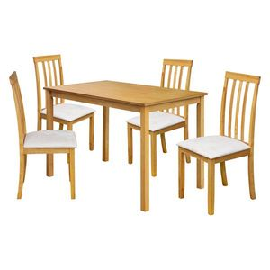 Stůl + 4 židle MALAGA lak javor obraz