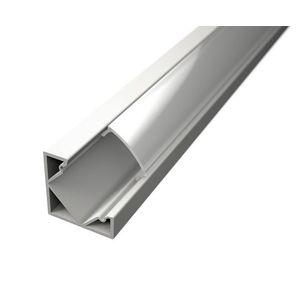 LED Solution Rohový profil pro LED pásky R2 bílý délky a typy profilů: Profil + Násuvný čirý kryt 2m obraz