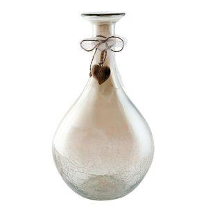 Dekorativní skleněná váza s popraskáním - Ø21*38 cm obraz