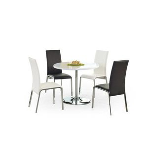 Kulatý jídelní stůl OMAR bílá / chrom Halmar obraz