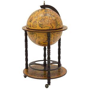 Dřevěný bar Globus obraz