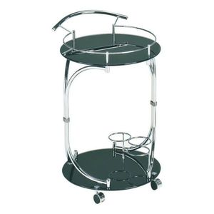 Servírovací stolek VESNA černá / chrom Tempo Kondela obraz