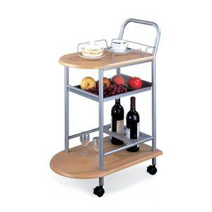 Servírovací stolek LIMA buk / stříbrná Tempo Kondela obraz