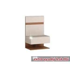 Noční stolek LYNATET TYP 95 bílá / dub sonoma truflový Tempo Kondela obraz