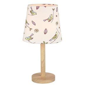 Stolní lampa QENNY TYP 7 bílá / vzor ptáci Tempo Kondela obraz