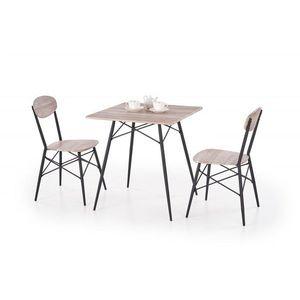 Jídelní set KABIR čtverec dub san remo stůl + 2 židle Halmar obraz