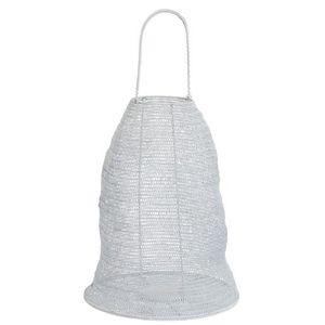 Bílá drátěná lucerna Gauze white - Ø 40*48 cm obraz