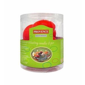 Provence Svíčky plovoucí 8 ks červená, 4, 3 x 2, 8 cm obraz