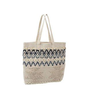 Modro-krémová kabelka - taška Denim - 40*40cm obraz