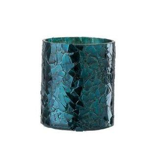 Modrý skleněný svícen - Ø 7*8 cm obraz