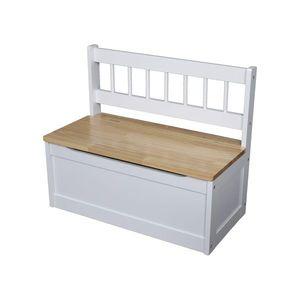 Dětská lavice bílá/lak obraz