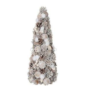 Bílý vánoční stromek se šiškami - 21*21*51cm obraz