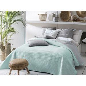 Přehoz na postel BUENO Mint & Light grey 220x240 cm (přehoz na postel) obraz