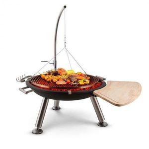 Blumfeldt Turion, šibenicový otočný gril, ohniště, Ø 80 cm, BBQ, lanový pohon, nerezová ocel obraz