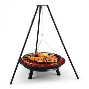 Blumfeldt Arco Trino, otočný gril, ohniště, BBQ, trojnožka, nerezová ocel obraz