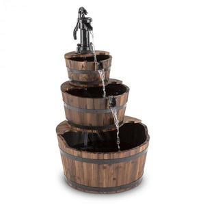 Blumfeldt Cascada 2G, kaskádová fontána, zahradní, 12 W, 800 l/h, dřevo obraz
