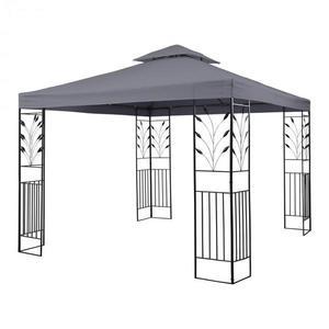 Blumfeldt Odeon Grey, zahradní pavilon, altán, 3 x 3 m, ocel, polyester, tmavě šedý obraz