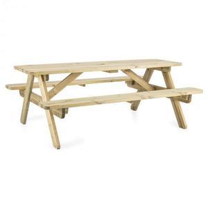 Blumfeldt Picknicker 180, piknikový stůl, zahradní set, 32 mm, borovicové dřevo obraz