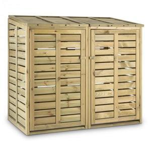 Waldbeck Ordnungshüter 2T, box na popelnice, 145 x 130 x 87 cm (ŠxVxH), 2 koše, FSC - borovice obraz