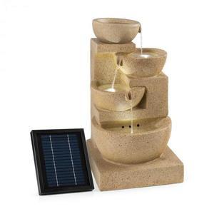 Blumfeldt Korinth, zahradní fontána, solární panel, 3 W, LED, pískovcová optika obraz