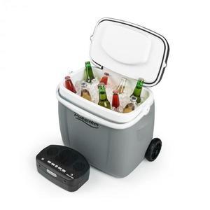 Auna Picknicker Trolley Music Cooler, chladicí box, kufříkový, 36 l, bt reproduktor, šedá barva obraz