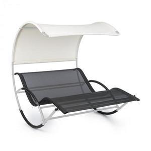 Blumfeldt The Big Easy, houpací lehátko, nepromokavé, 350 kg max., UV ochrana, stříbrné obraz