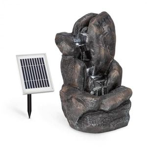 Blumfeldt Felsquell, solární kaskádová fontána, akumulátorový provoz, 2 W, solární panel, 3x LED obraz