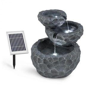 Blumfeldt Murach, solární kaskádová fontána, akumulátorový provoz, 2 W, solární panel, 3x LED obraz