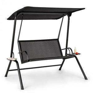 Blumfeldt Bel Air Mono, hollywoodská houpačka, ocelový rám, mono relax, černá obraz