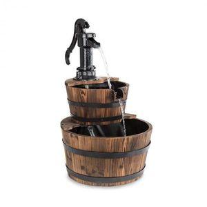 Blumfeldt Cascada Doble, okrasná fontána, 2 patra, 12 W, 600 l/h, dřevo, hnědá obraz