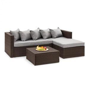 Blumfeldt Theia Lounge set zahradní sedací souprava, hnědá / světle šedá obraz