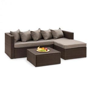 Blumfeldt Theia Lounge set zahradní sedací souprava, hnědá / hnědá obraz