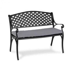 Blumfeldt Pozzilli BL, zahradní lavička & podložka na sezení, černo/šedá obraz