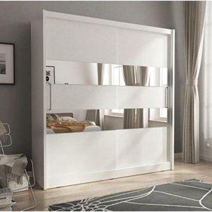 PIASKI skříň MARY II 200, bílá 200x214x62 bílá / bílá obraz