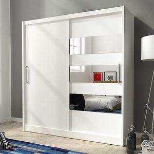 PIASKI skříň MARY III 200, bílá 200x214x62 bílá / bílá obraz