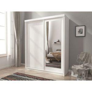 PIASKI skříň ALBANY 200, bílá 200x214x62 bílá / bílá obraz