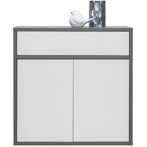MARIDEX komoda ZODIAC 4 90x90x50 popel / bílý lesk obraz