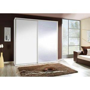 MARIDEX skříň PAULA 205 se zrcadlem, bilá 205x215x66 bílá obraz