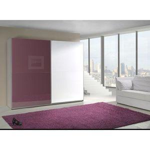 MARIDEX skříň LAVERN 240, bílá/fialový lesk 244x206x64 bílá / fialový lesk obraz