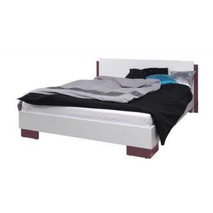 MARIDEX postel LAVERN, bílá/fialový lesk 177x80x206 bílá / fialový lesk obraz
