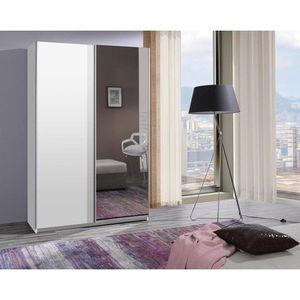 MARIDEX skříň FRANCO 135 se zrcadlem, bílá 135x211x60 bílá obraz