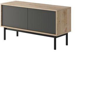 PIASKI Tv stolek BJORN 104, hickory/grafit 104x57x39 hickory/grafit obraz