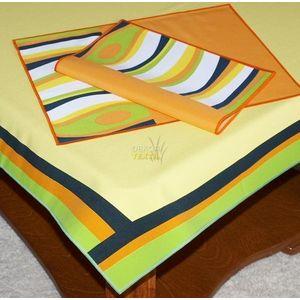 Forbyt Ubrus abstrakce set, 120 x 140cm + 2 ks 30 x 45 cm obraz