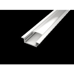 LED Solution Vestavný profil pro LED pásky V1 bílý délky a typy profilů: Profil bez difuzoru (krytu) 1m obraz