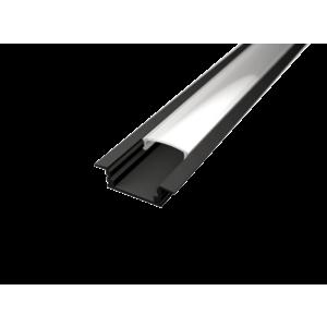 LED Solution Vestavný profil pro LED pásky V1 černý délky a typy profilů: Profil bez difuzoru (krytu) 1m obraz