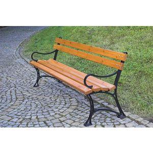 Parková lavice s područkami - FSC ROJAPLAST obraz