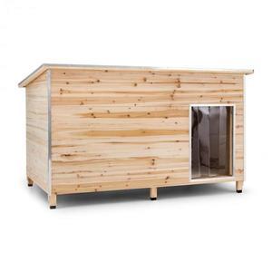 OneConcept Schloss Wuff, bouda pro psa, velikost XL, 110 x 160 x 100 cm, izolovaná, závětří, dřevo obraz
