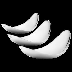 Miska Leaf sada 3 misek, leštěný nerez - Georg Jensen obraz