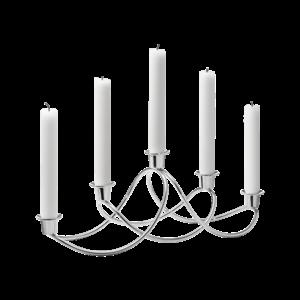 Svícen Harmony na 5 svíček, nerezová ocel - Georg Jensen obraz